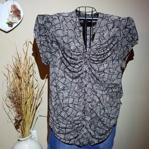 Lane Bryant rouched front dressy shirt